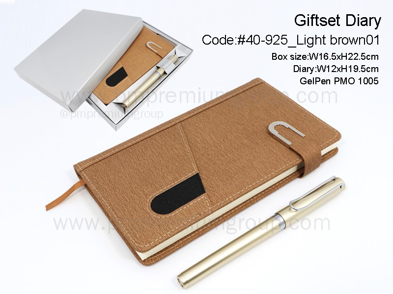 Giftset Diary #40-925Light brown01
