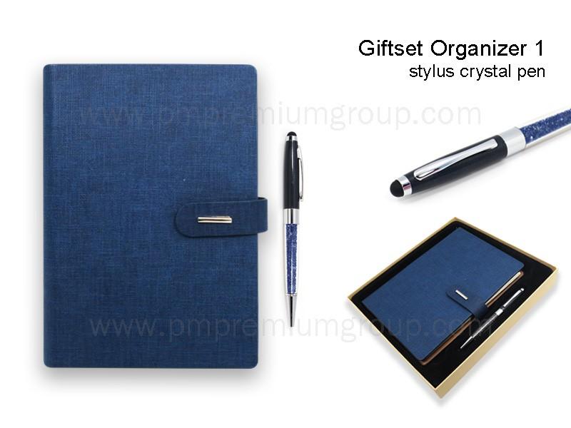 สมุดออแกไนเซอร์A5สีน้ำเงิน