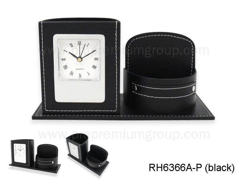 น่าฬิกากล่องหนังตั้งโต๊ะRH366A-P