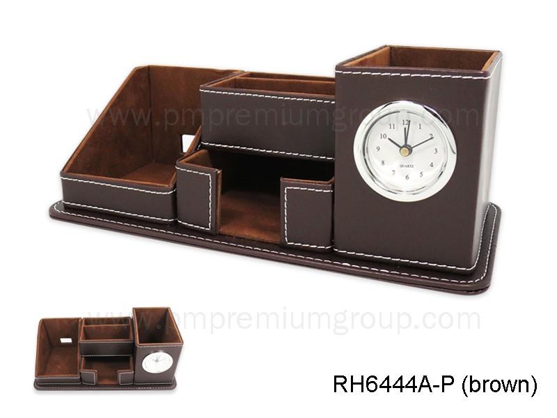 นาฬิกากล่องหนังตั้งโต๊ะ RH6444A-P