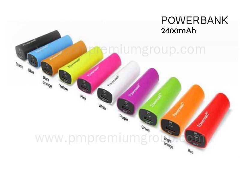 Powerbank 2,400 mAh Colourful