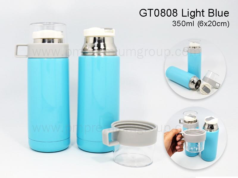 กระติกน้ำสเตนเลสสีฟ้าGT0808